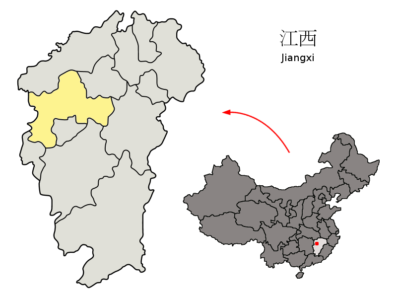 Yichun (Jiangxi) China  City new picture : Description Location of Yichun Prefecture within Jiangxi China