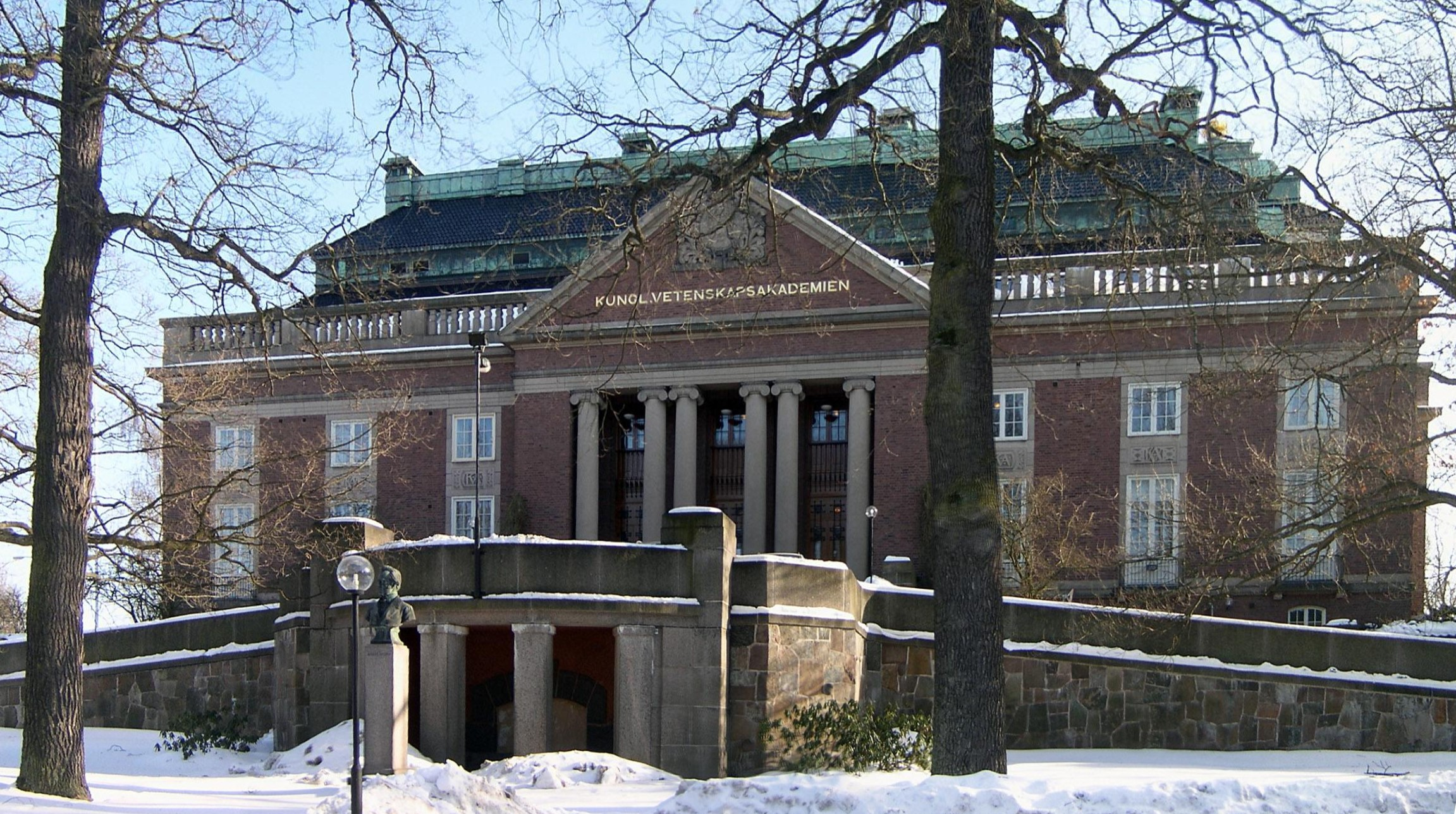 Main building of the Royal Swedish Academy of Sciences in [[Stockholm
