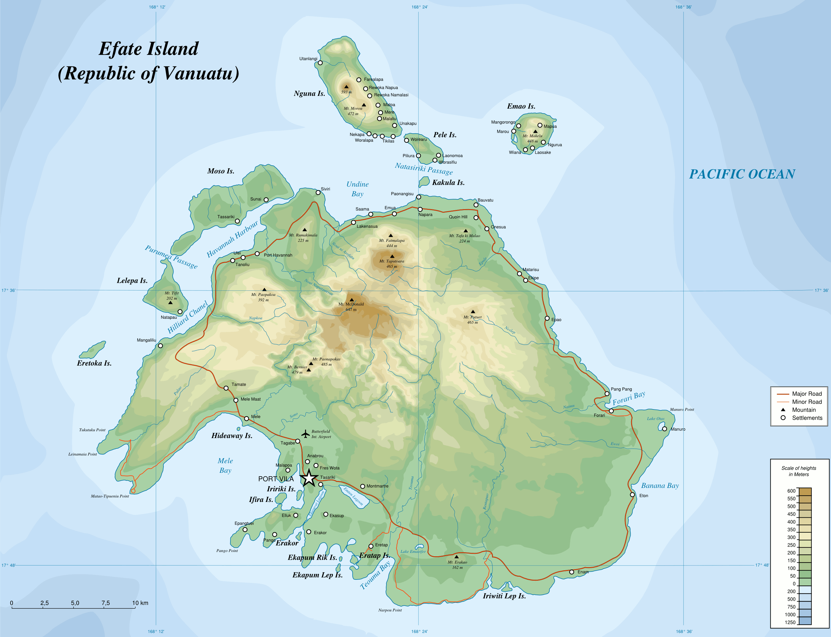 FileMap Of Efate Island ENpng Wikimedia Commons - Islands map