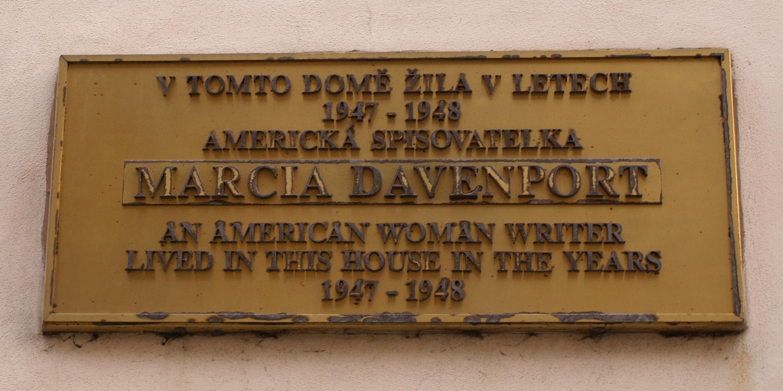 Plaque in Prague-[[Hradčany