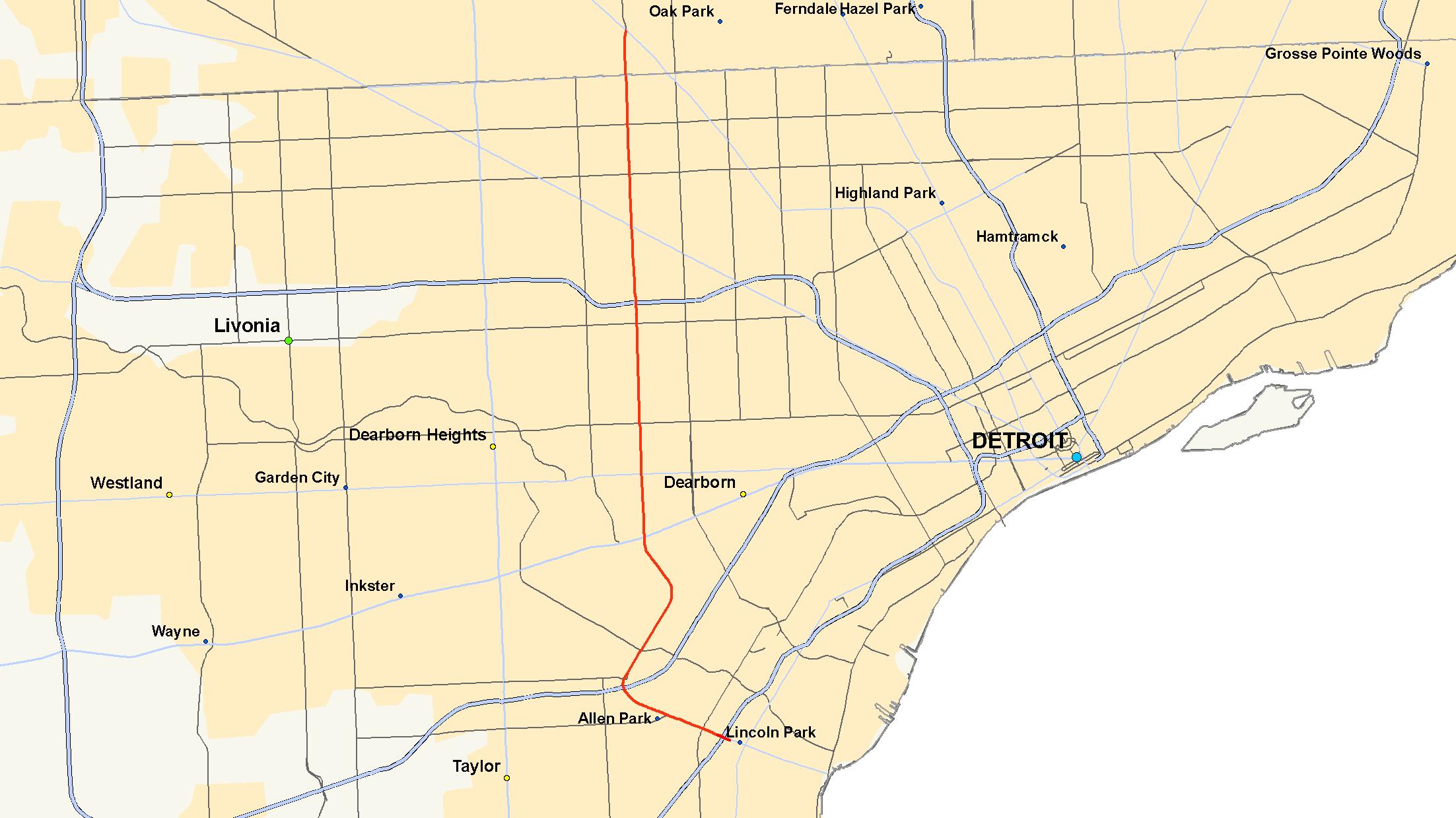 Michigan State Map Google.M 39 Michigan Highway Wikipedia