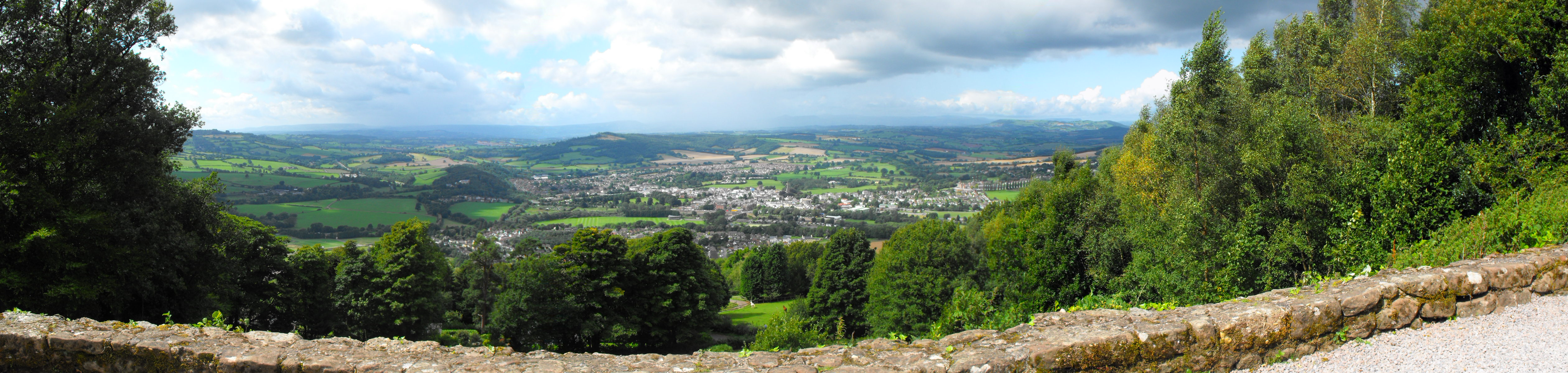 View of Monmouth from Kymin