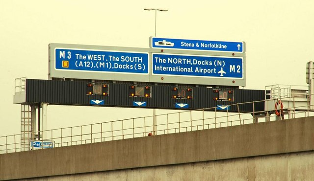 File:Motorway sign, Belfast (2) - geograph.org.uk - 1464810.jpg