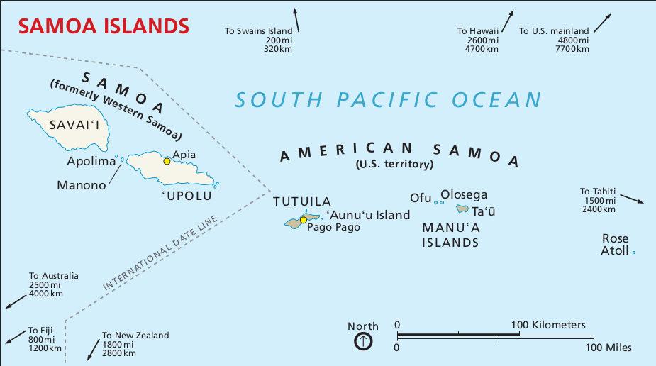 FileNPS Americansamoaregionalmapjpg Wikimedia Commons - Map of american samoa