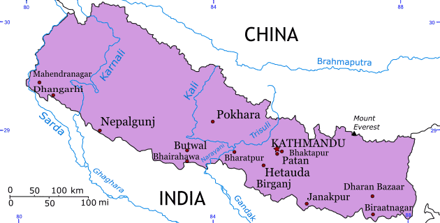 Map of the Kingdom of Nepal