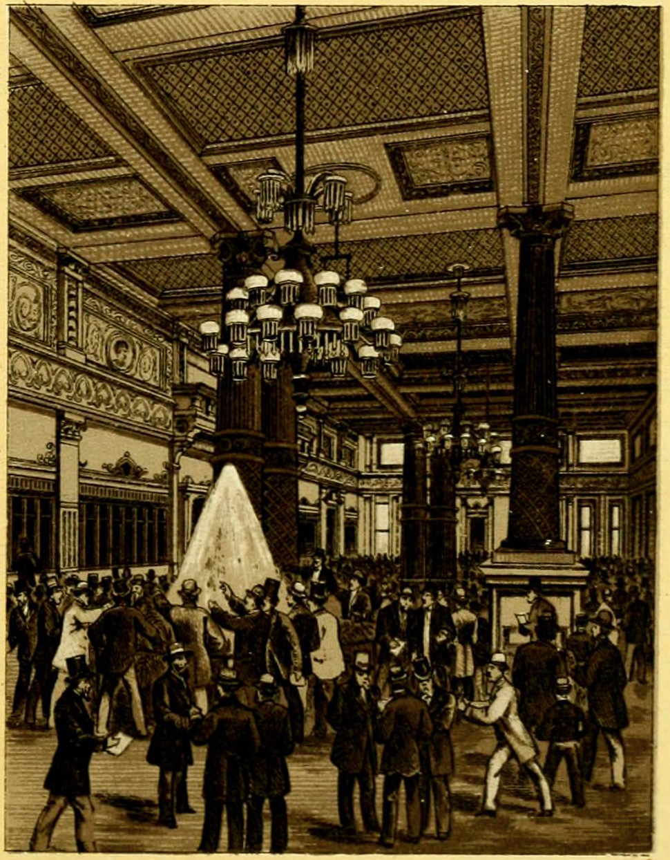 File New Orleans Cotton Exchange Interior