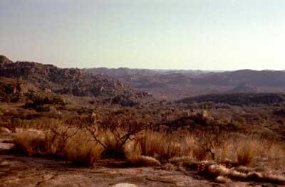 Vue des monts Matobo.