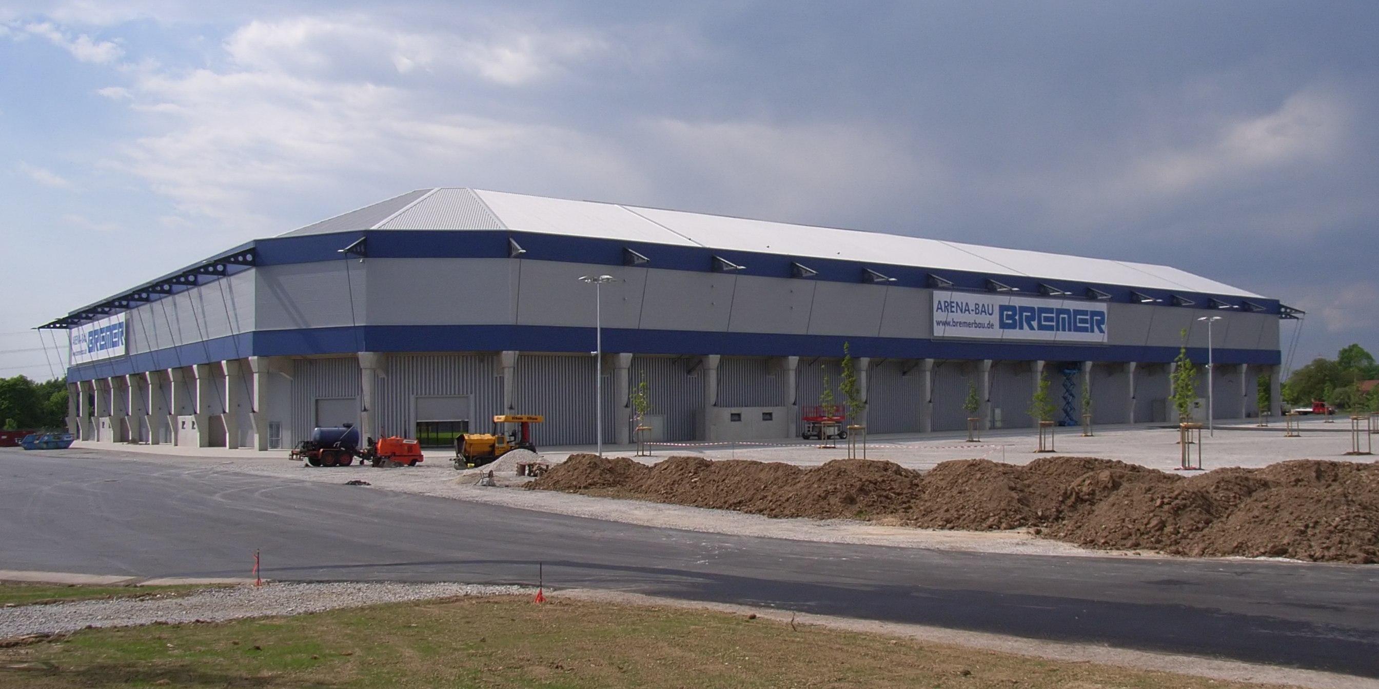 Das Paderborner Stadion kurz vor der Eröffnung (Mai 2008)