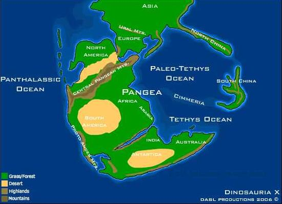 Pangaea physical map