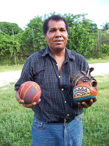 File:Pelota mixteca ball, glove, & player (S Kraft).jpg