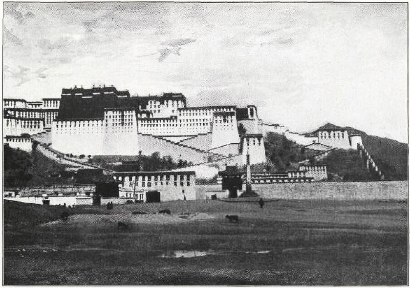 Potala Palace from South, Tsybikov-Smithsonian-1905-Plate-4.jpg
