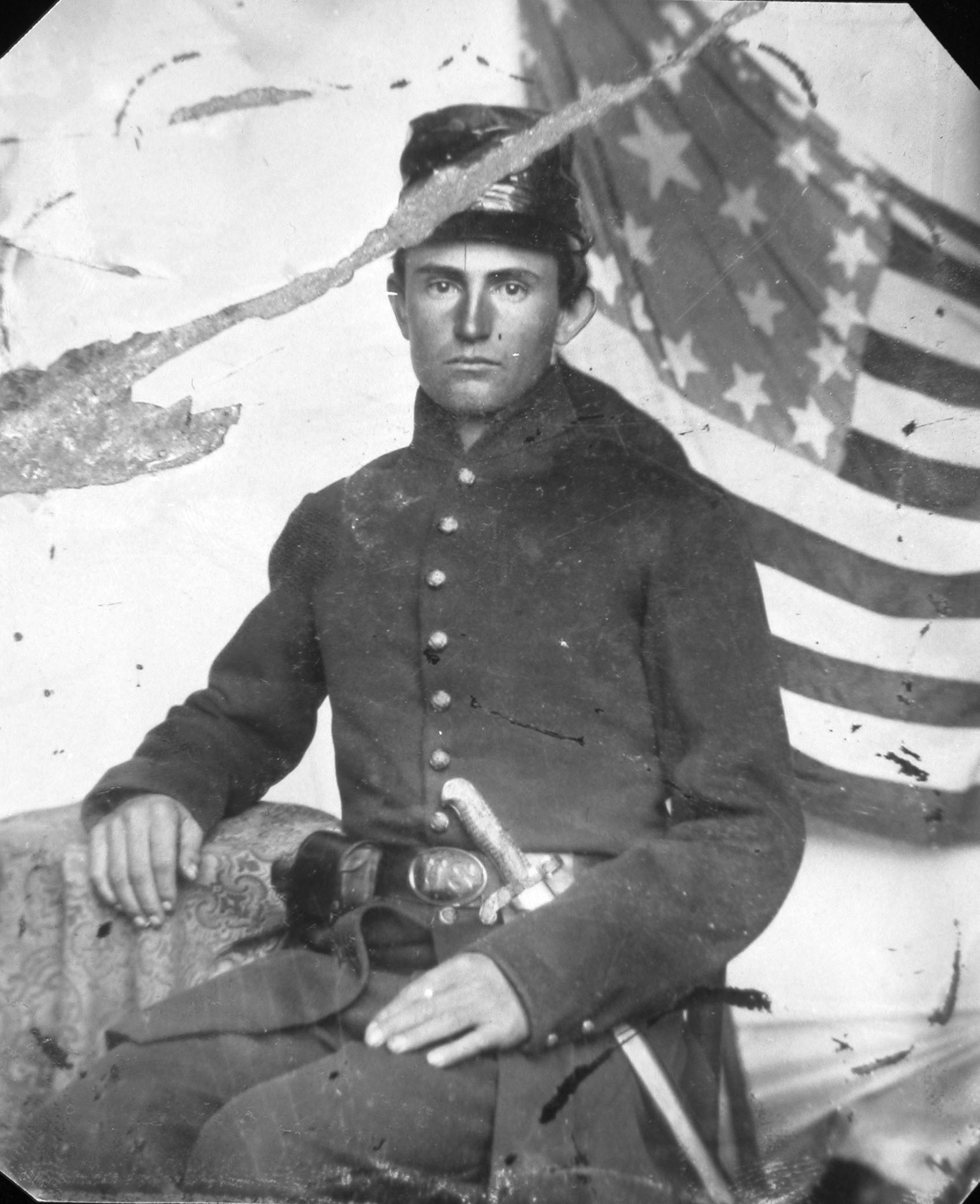 Private Samuel K. Wilson (1841-1865) of the Sturgis Rifles, Illinois Volunteer Infantry (1862).