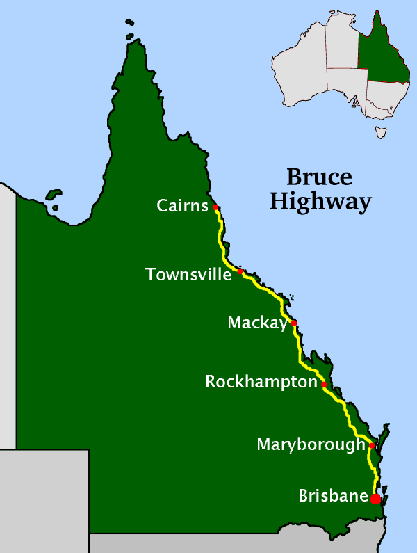 Map Of Australia Townsville.Bruce Highway Wikipedia
