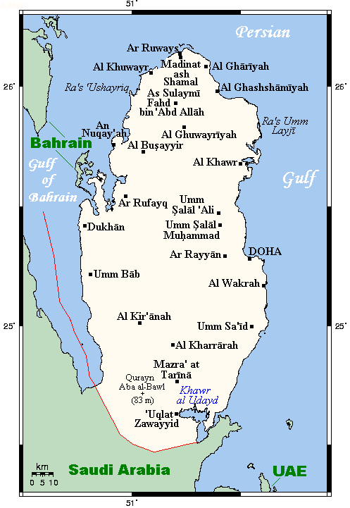 Geography of Qatar - Wikipedia on