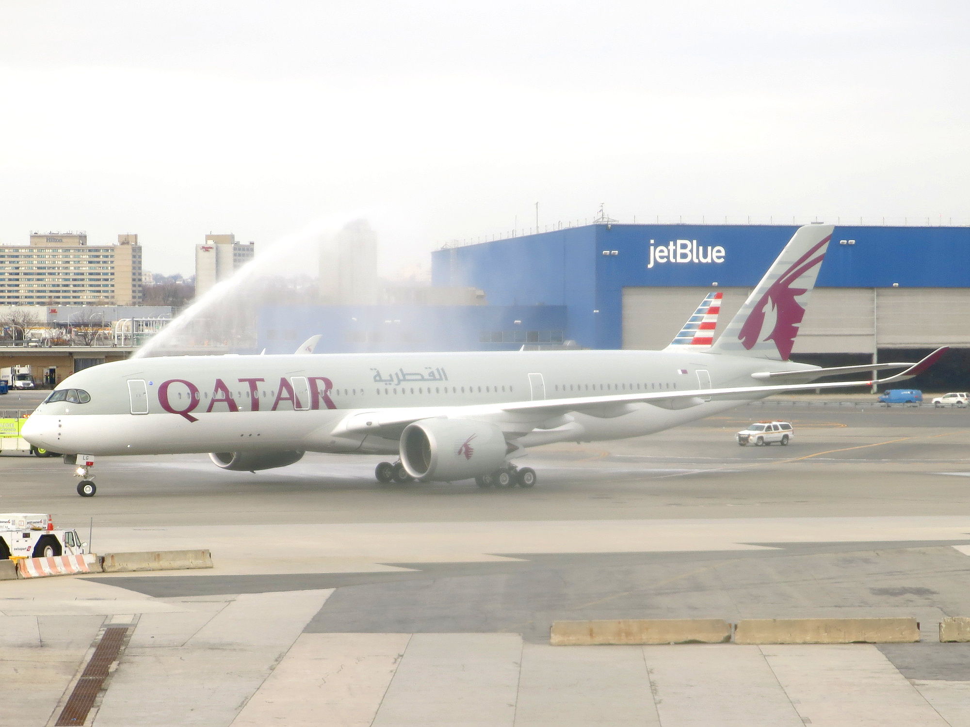 quatar airways A sleek new plane designed with customer comfort in mind hit the skies this weekend qatar airways unleashed its new a350-1000 with premium airplane upgrades on saturday between london and doha, qatar the new aircraft boasts millions of ambient anti-jet lag led lights, hospital-grade.