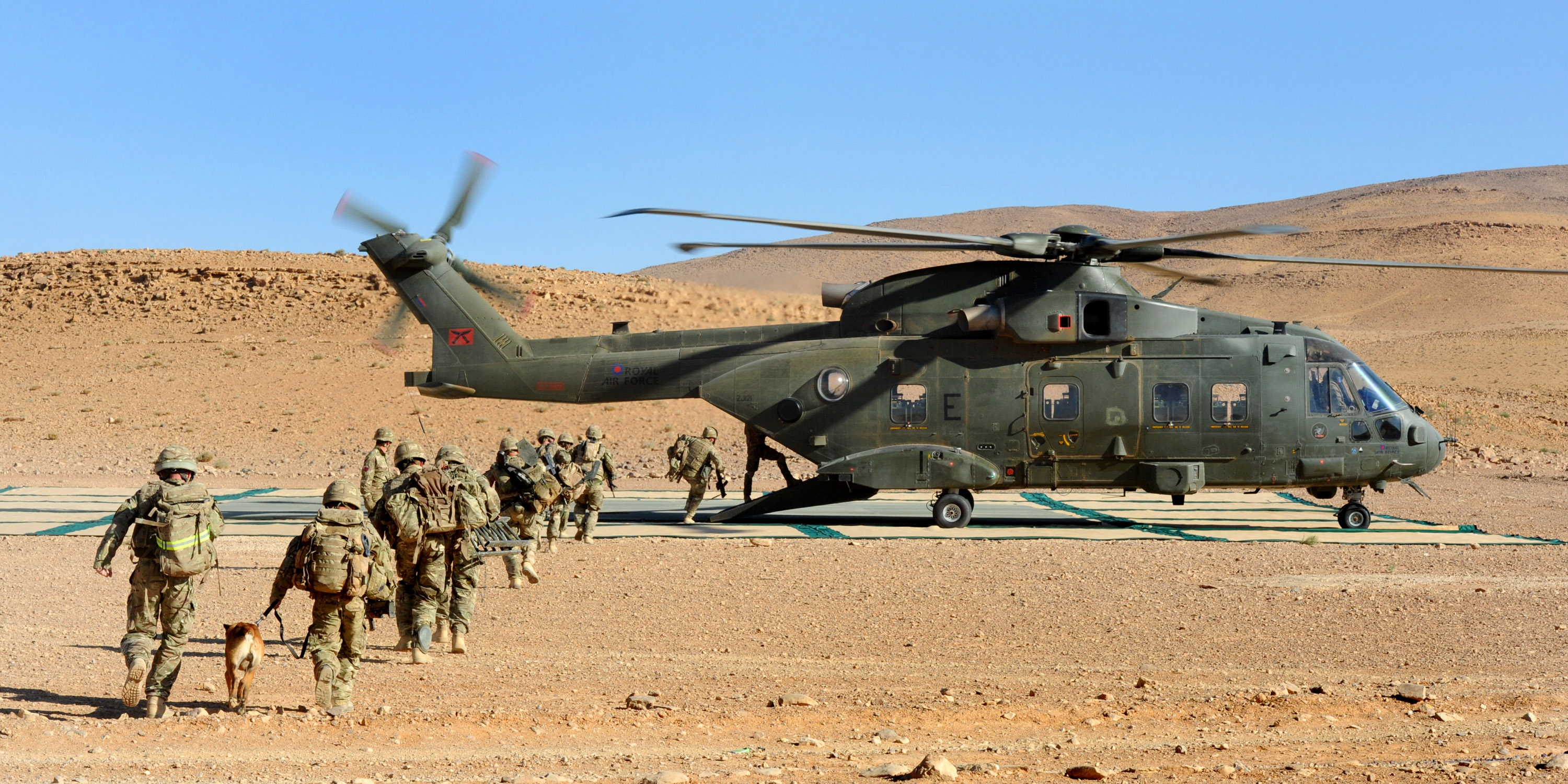 File:RAF Merlin Helicopters on Exercise Pashtung Vortex in