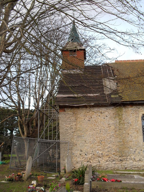 Renovations underway at The Assumption, East Wittering - geograph.org.uk - 1635957.jpg English: Renovations underway at The Assumption, East