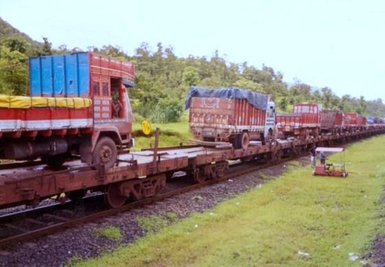 RORO service by Konkan Railways