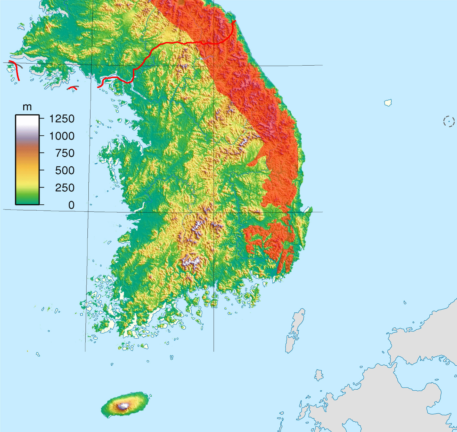 Filesouth korea location map topography with taebaek mountains filesouth korea location map topography with taebaek mountains markedg gumiabroncs Image collections