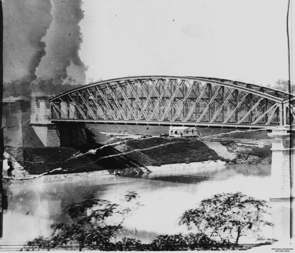 File Statelibqld 1 121964 Steel Bridge Over The Brisbane