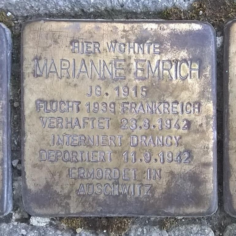 Stolperstein Marianne Emrich Muehlacker 2019-02-17.jpg