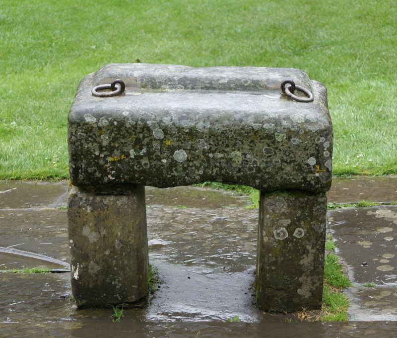 A replica of the Stone of Scone