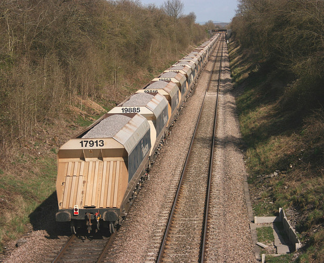 File Stone Train Eastward Bound Geograph Org Uk