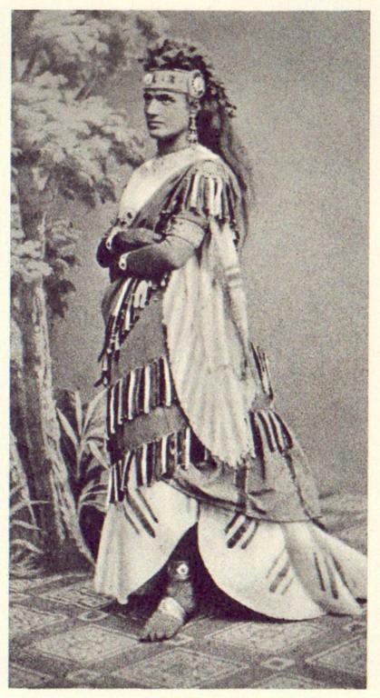 Teresa Stolz en la representación de Aida en 1872 en Parma