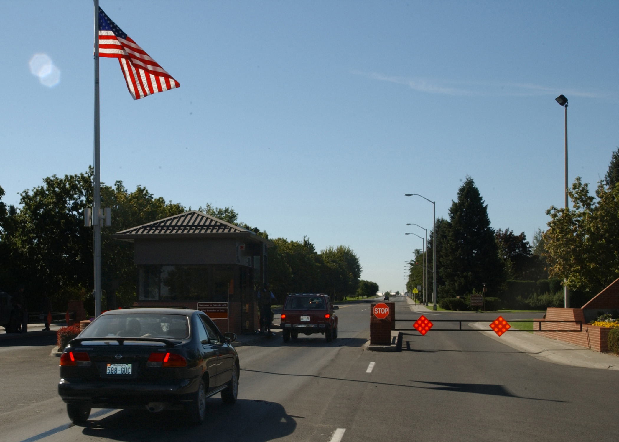 File:The main gate of Fairchild AFB, WASH on 11 September ...