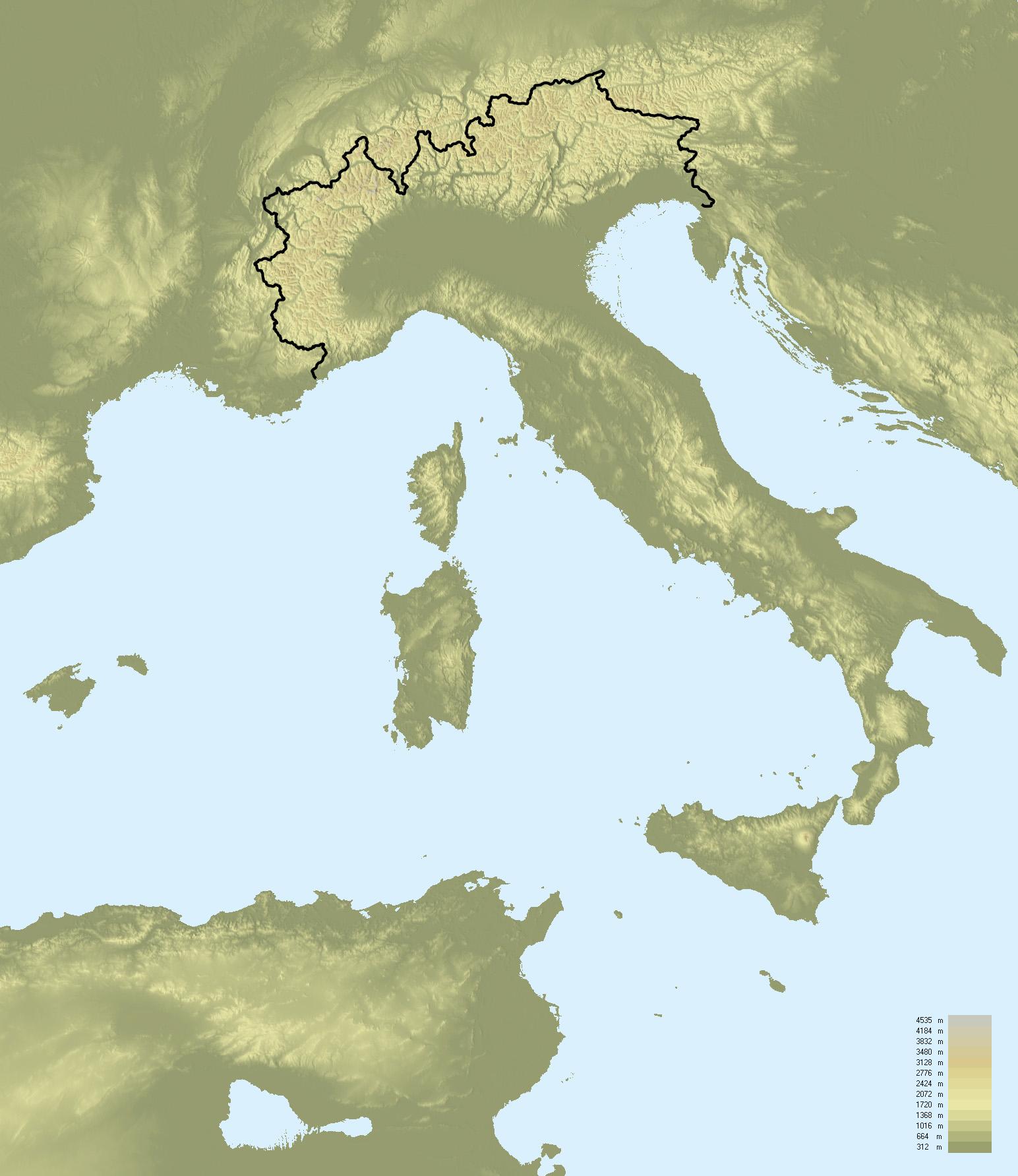 Confine Svizzera Italia Cartina.Confini Dell Italia Wikipedia