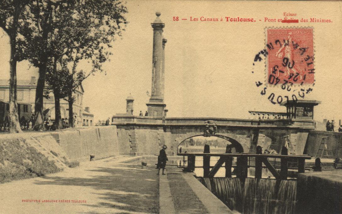 Toulouse minimes canal du midi postcard 1906.jpg