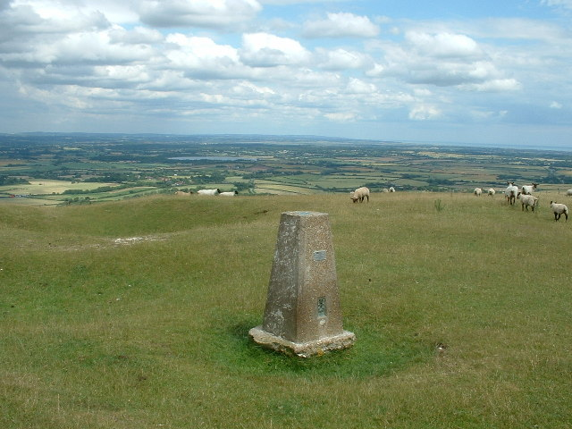 Trig Point on Firle Beacon - geograph.org.uk - 24622