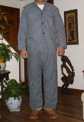 Traditional pajamas for sleeping.