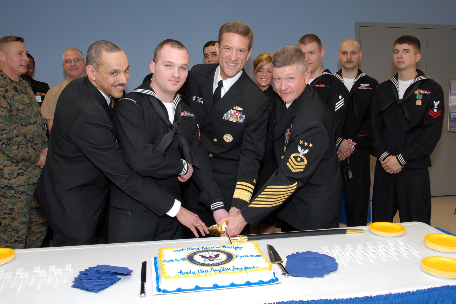 Navy Birthday Cake Cutting Ceremony Veterans Day  Logan Hickman