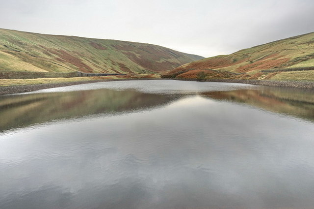 Upper Ogden Reservoir - geograph.org.uk - 1569331