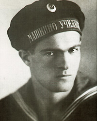 Vaptsarov during his time in the Varna Naval Machinery School