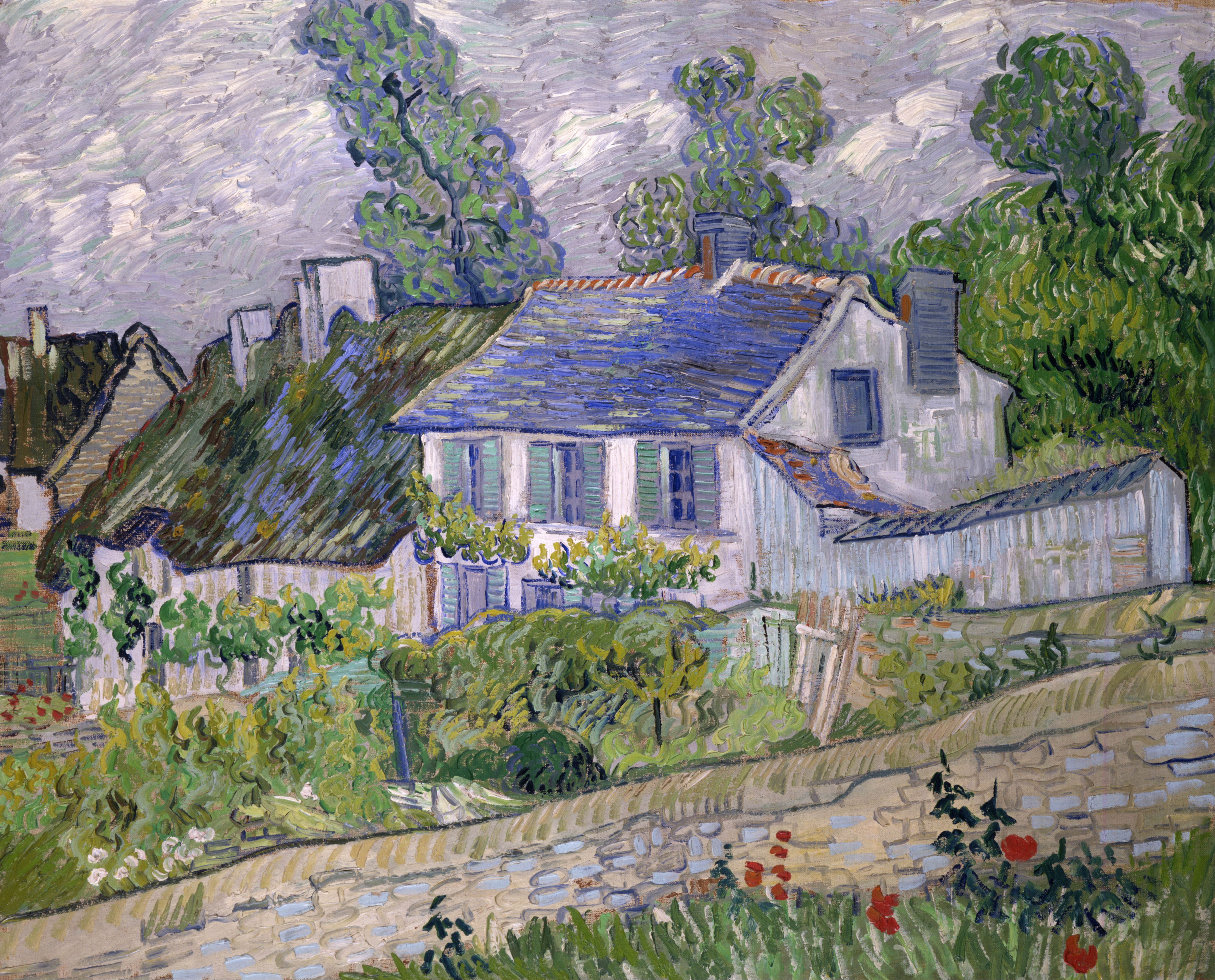 File vincent van gogh houses at auvers google art for Good house images
