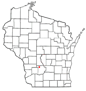 Location of La Valle (town), Wisconsin