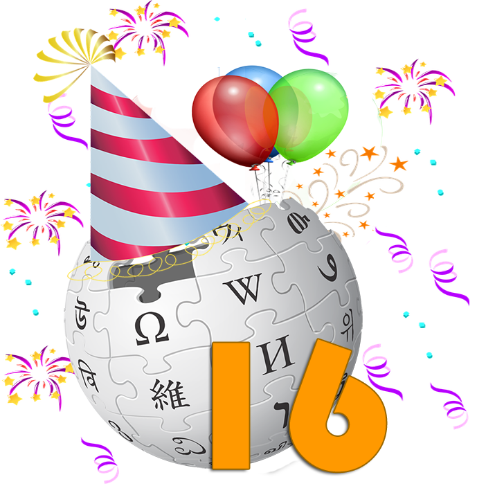 File:Wikipedia's 16th Birthday.png