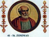 Pope Zosimus pope