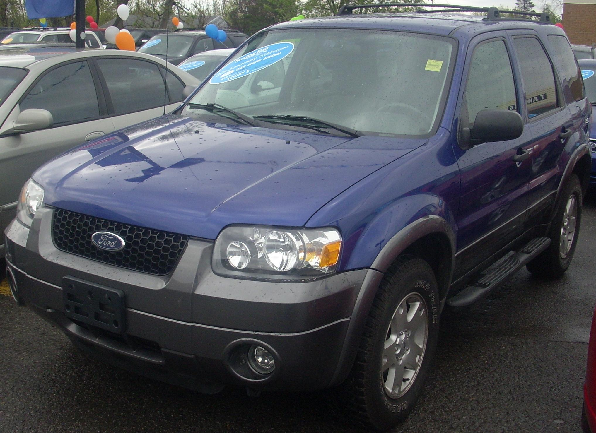 File06 Ford Escape XLT 4WD Sterling FordJPG  Wikimedia Commons