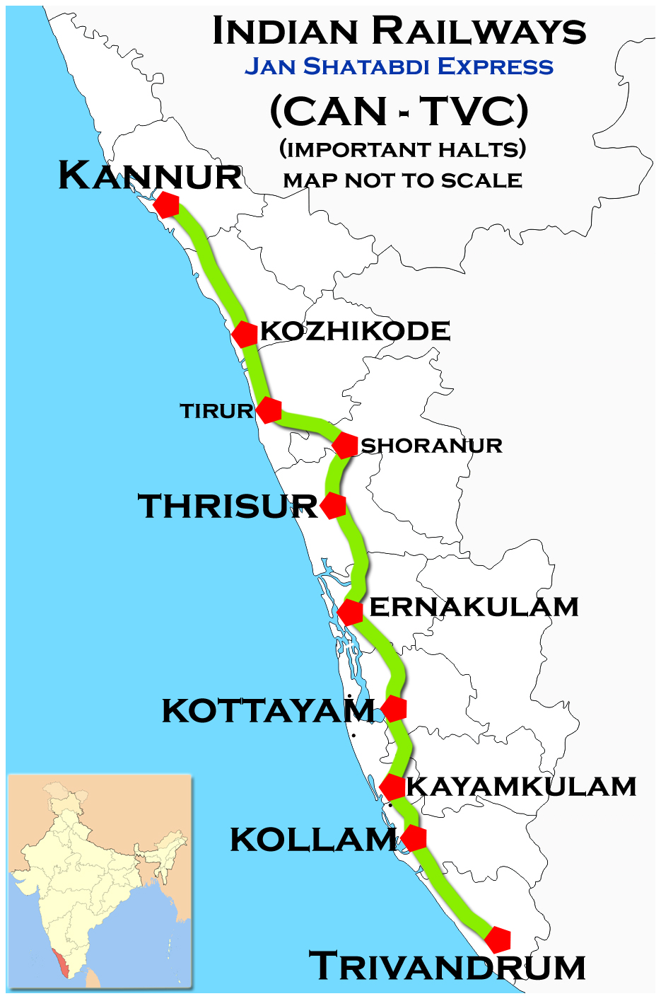 ... Tawi to Mangalore, and ranked the third longest running train in Indian  Railways in terms of distance traveled. It travels through the most of  states ...