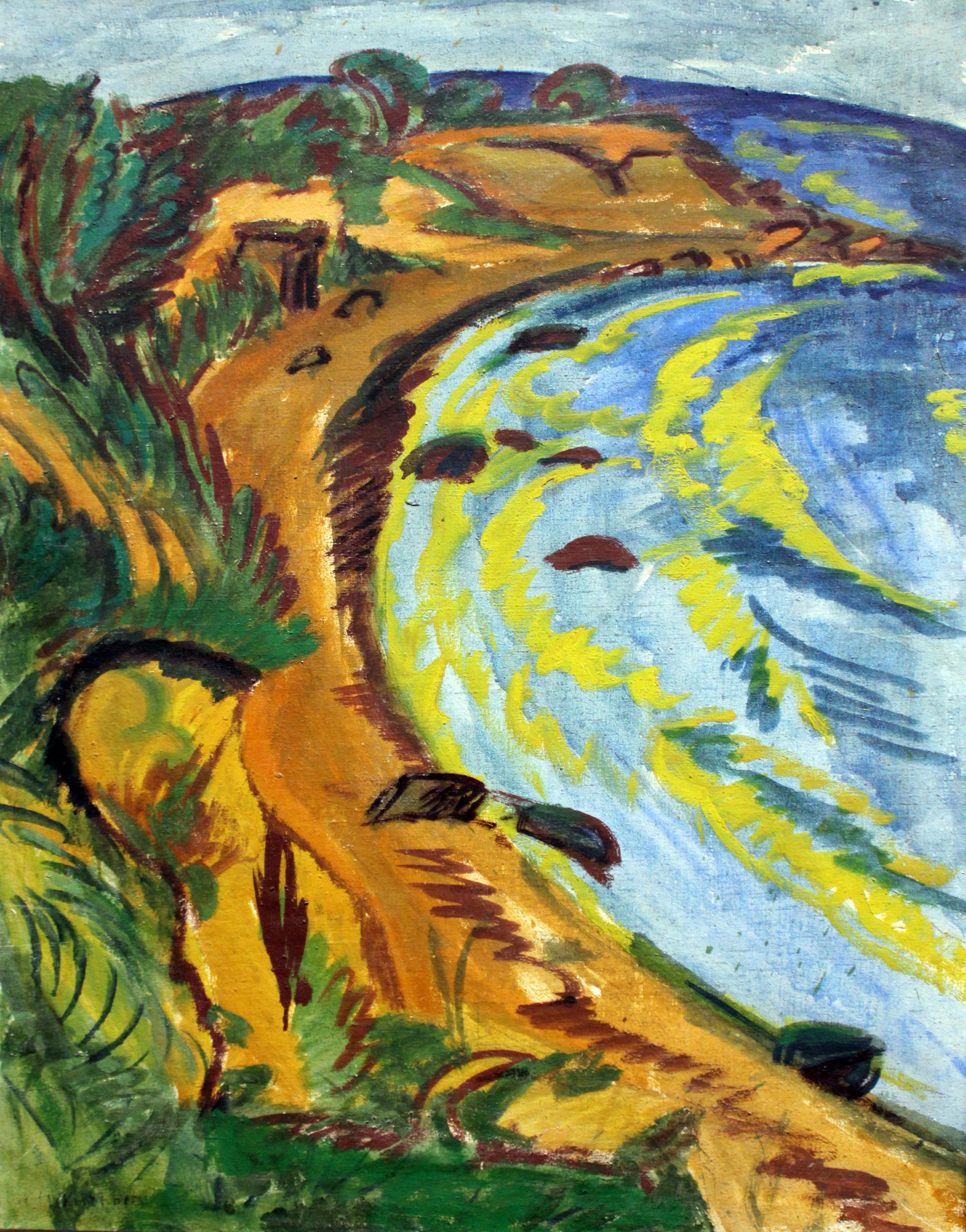 Ernst Ludwig Kirchner [Peintre] 1913_Kirchner_Bucht_an_der_Fehmarnk%C3%BCste_anagoria