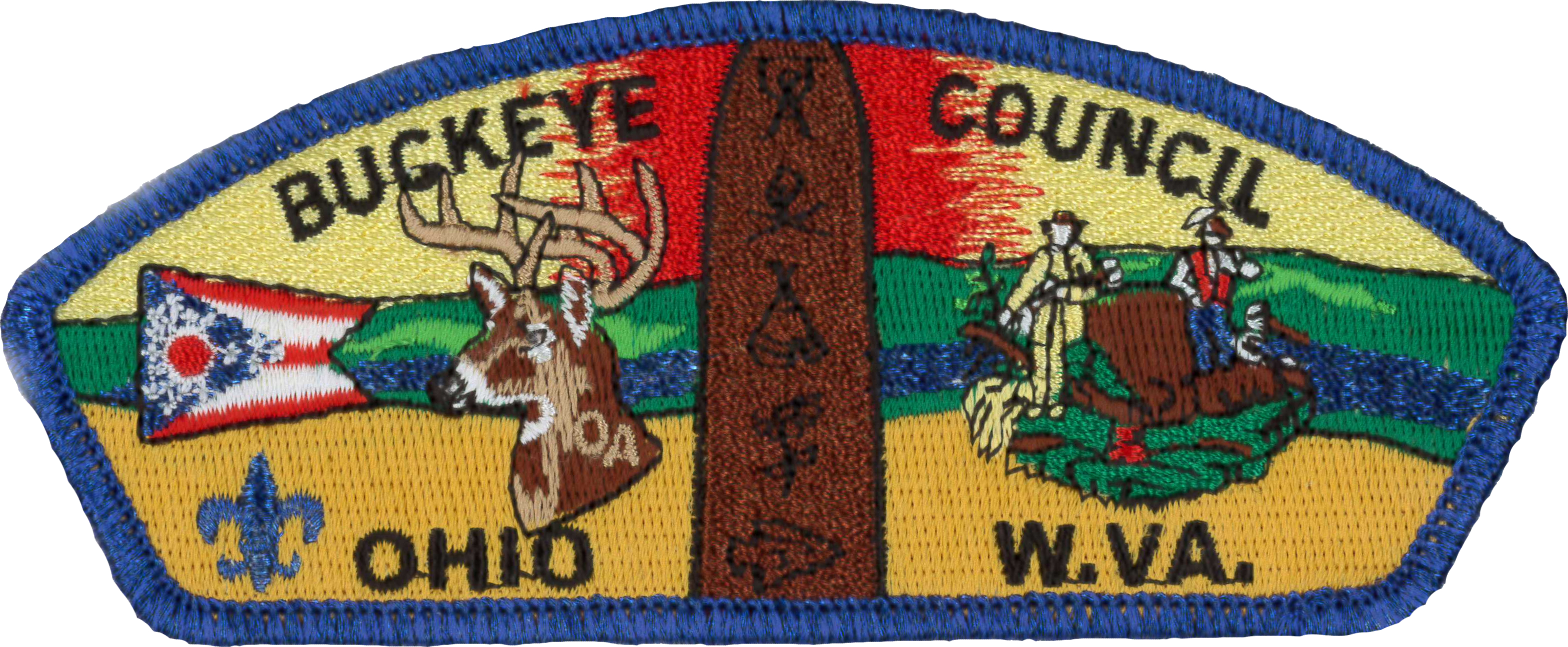 SCOUT BSA 1970 ORANGE EMPIRE COUNCIL CA CAMPOREE PATCH MERGED BADGE SCOUTING !!!