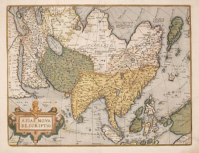Atlas of asia wikimedia commons abraham ortelius map of asia 1595g sciox Images