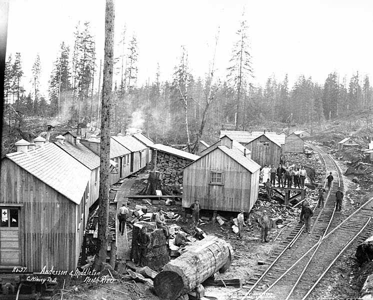 File:Anderson and Middleton Lumber Company camp at North River, Grays Harbor County, ca 1918 (KINSEY 31).jpeg