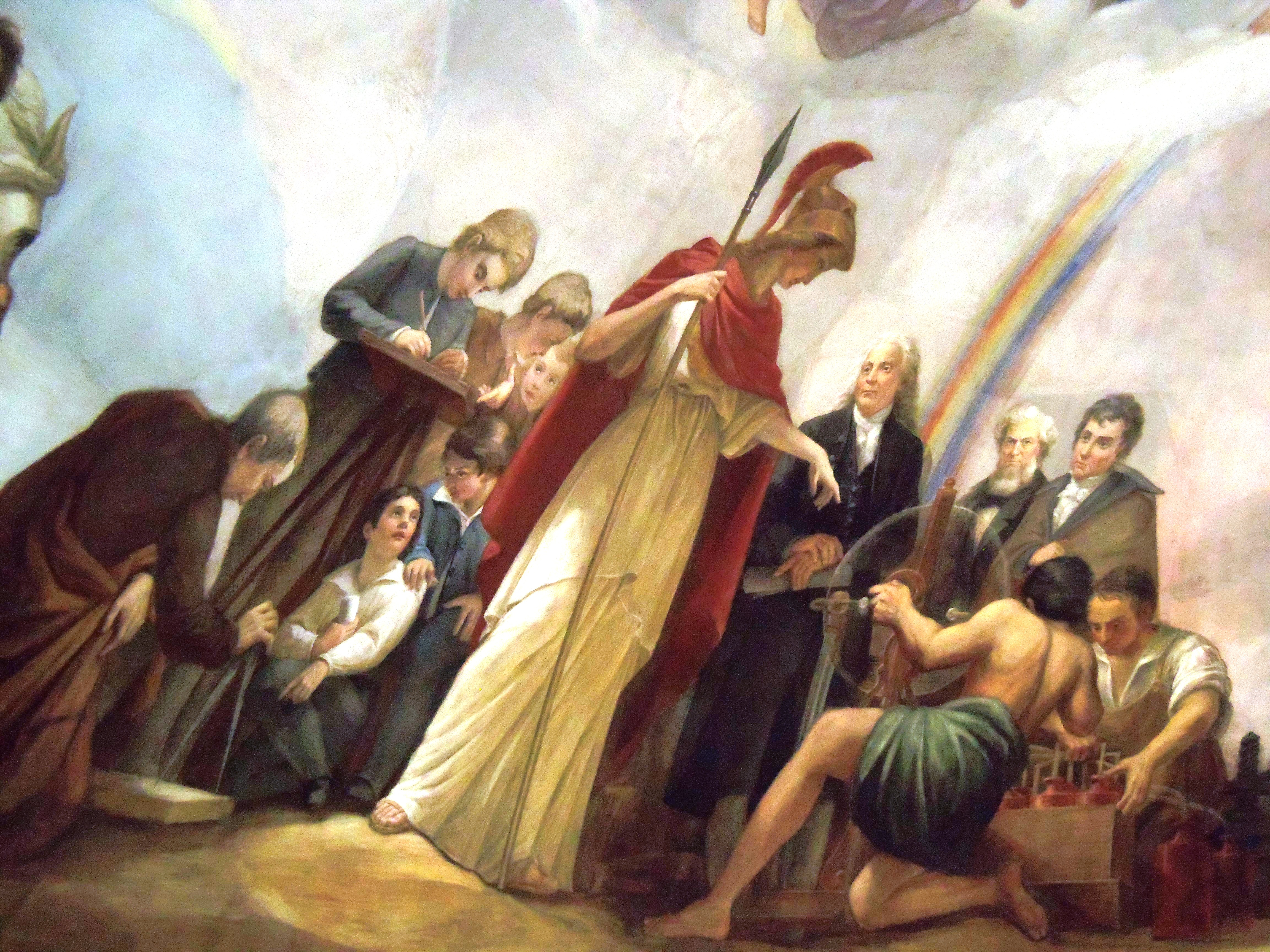what is apothesis The apotheosis of washington depicts george washington sitting amongst the heavens in an exalted manner, or in literal terms, ascending and becoming a god.