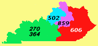 Area codes 270 and 364 Area codes that serves Kentuckys western and south central counties