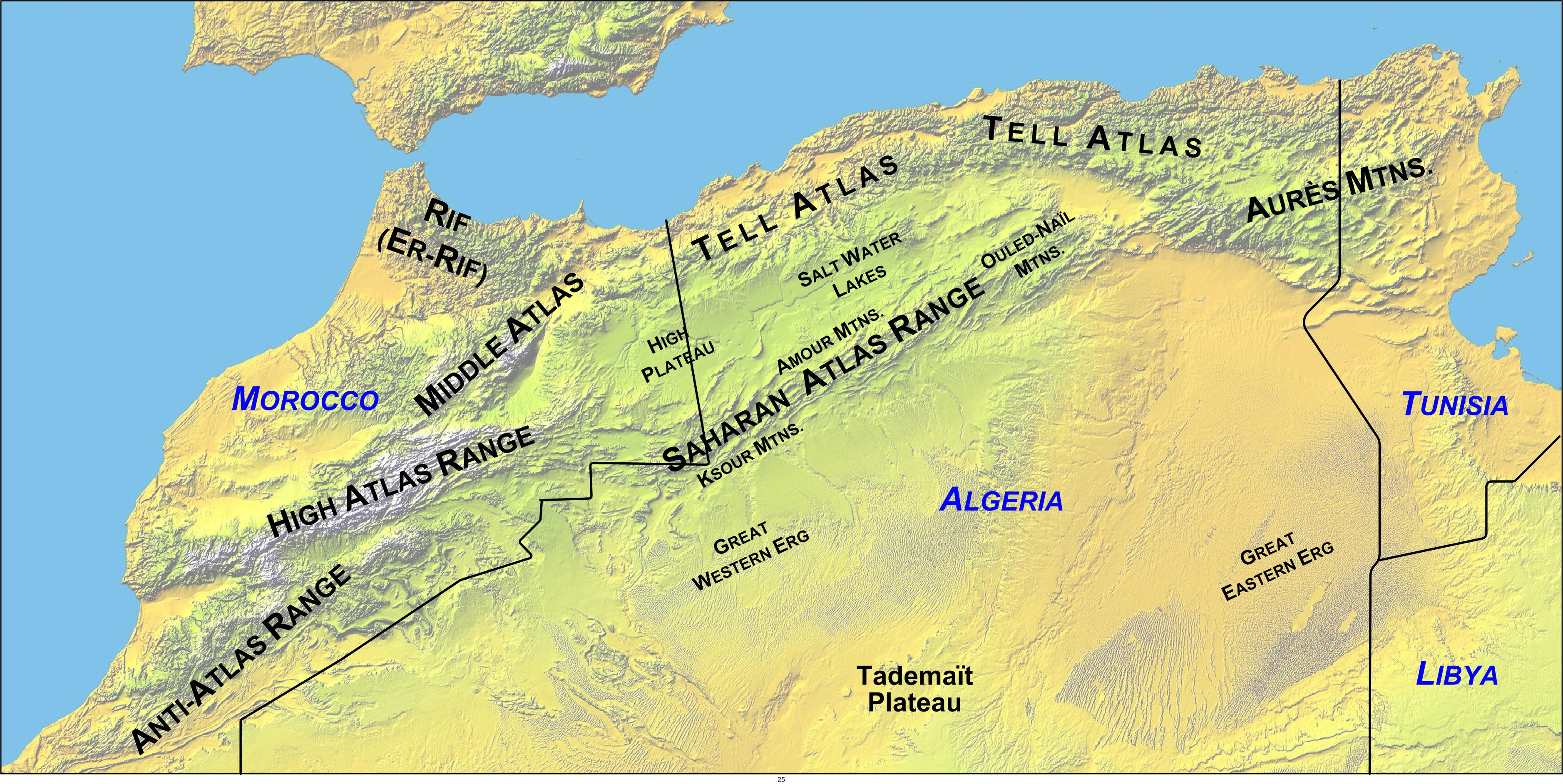 File:Atlas Mountains Labeled 2.   Wikipedia