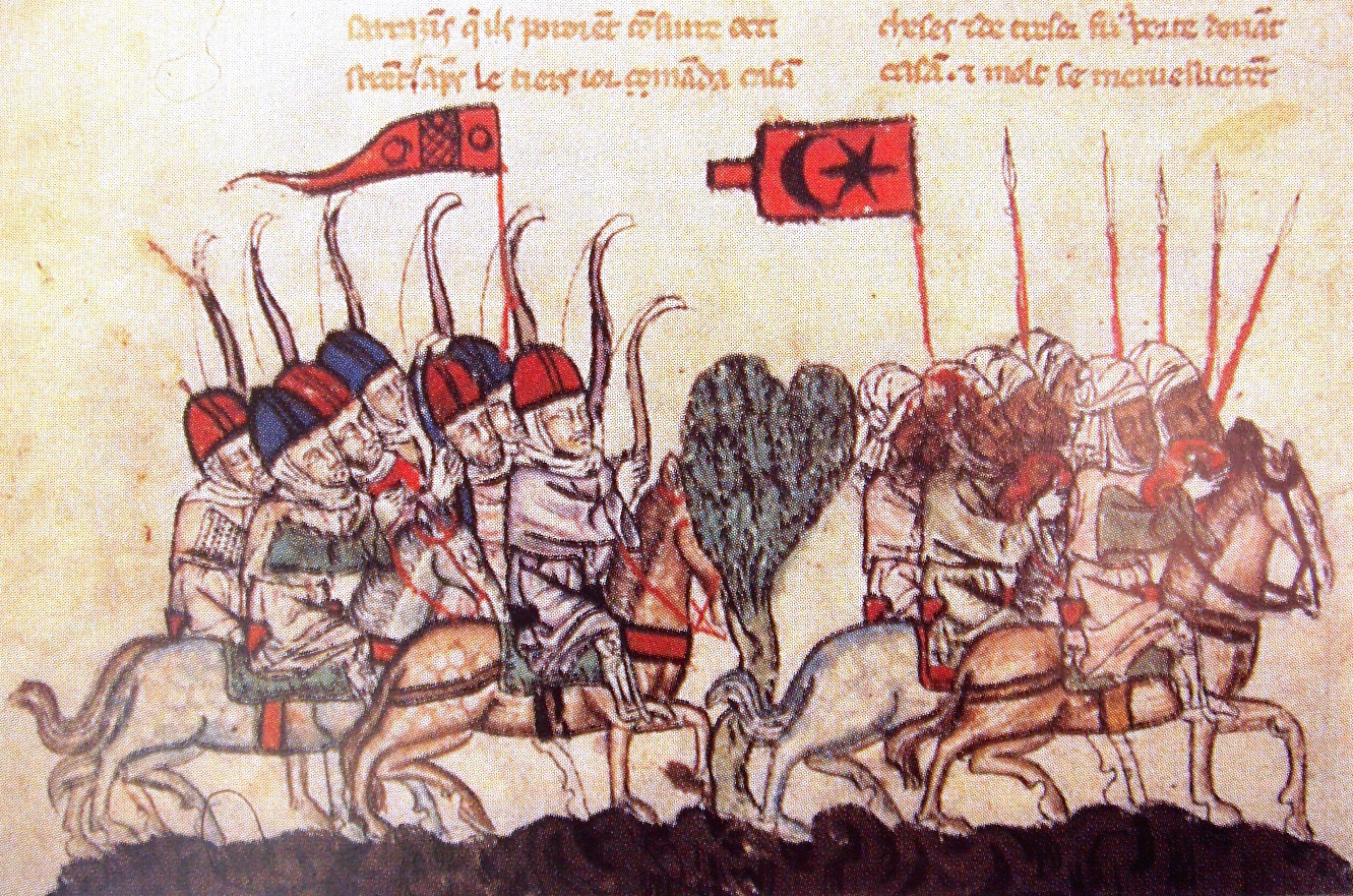 The 1299 Battle of Wadi al-Khazandar. The Mongols under Ghazan defeated the Mamluks.
